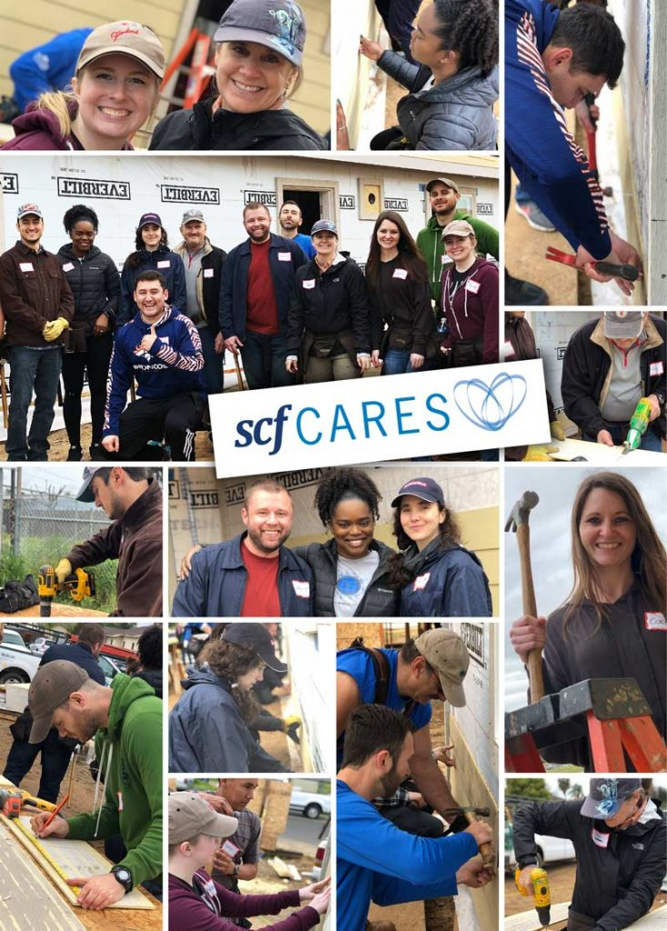 SCF Cares Habitat for Humanity Photo Collage